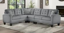 Homelegance 8202GRY 2 pc sinclair gray fabric reversible sectional sofa set