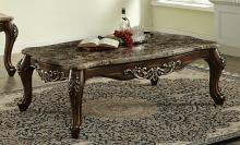 Acme 82145 Astoria grand mccloud latisha antique oak finish wood marble top coffee table