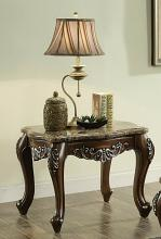 Acme 82147 Astoria grand mccloud latisha antique oak finish wood marble top chair side end table