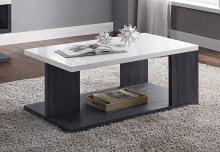 Acme 82170 Orren ellis acad pancho mid century modern gray & white high gloss finish coffee table