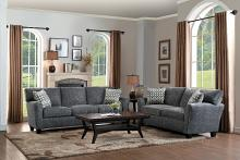Homelegance HE-8225NGY-SL 2 pc Alain gray fabric sofa and love seat set