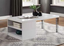 Acme 82330 Orren ellis silikou harta modern white high gloss finish coffee table