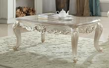 Acme 82440 Astoria grand jacqueline gorsedd antique white finish wood marble top coffee table