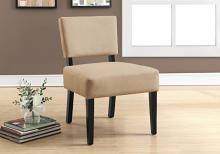 ACCENT CHAIR - BEIGE FABRIC