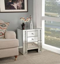 Acme 82778 Glam Nysa mirrored and faux crystals inlay nightstand bed side end table