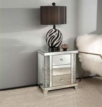 Acme 82779 Glam Noralie mirrored and faux diamonds inlay nightstand bed side end table