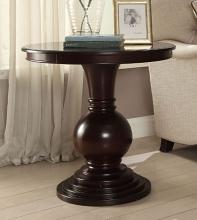 Acme 82816 Ivy bronx durlston alyx espresso finish wood round side table