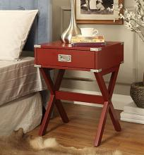 Acme 82820 Ivy bronx durlston babs red finish wood side end table
