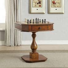 Acme 82844 Major-Q colourtree bishop cherry finish wood chair side chess / backgammon game table