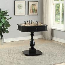 Acme 82846 Major-Q colourtree bishop black finish wood chair side chess / backgammon game table