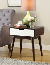 Acme 82852 Brayden studio lords christa espresso / white finish wood chair side end table