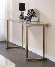 Acme 82873 Mercer 41 wiley boice II faux marble champagne finish frame sofa entry console table
