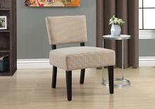 ACCENT CHAIR - GOLD / GREY ABSTRACT DOT FABRIC