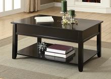 Acme 82950 Malachi black finish wood lift top coffee table