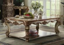 Acme 83000 Vendome gold patina finish wood carved accents coffee table