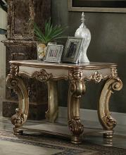 Acme 83001 Vendome gold patina finish wood carved accents chair side end table