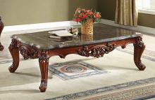 Acme 83065 Astoria grand anner eustoma walnut finish wood marble top coffee table