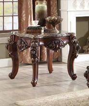 Acme 83072 Astorai grand keagan forsythia walnut finish wood marble top chair side end table