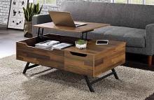 Acme 83145 Latitude run throm walnut finish wood mid century modern lift top coffee table