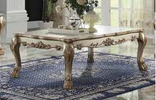 Acme 83160 A&J Homes studio dresden gold patina finish wood carved accents rectangular coffee table