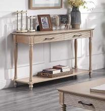 Acme 83223 Ebern designs salamone ariolo antique white finish wood sofa entry hall console table