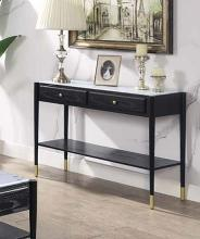 Acme 83228 Highland dunes fleck atalia black finish wood marble top sofa entry hall console table