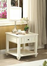 Acme 83327 Rosecliff heights lomas natesa white washed finish wood chair side end table