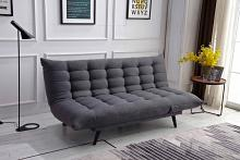 8355-DG Ophelia dark gray fabric click clack folding futon sofa bed lounge
