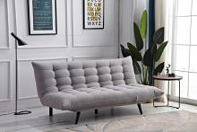 8357-LG Ophelia light gray fabric click clack folding futon sofa bed lounge