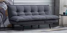 8369 Corrigan studio schaller Ophelia dark gray fabric click clack folding futon sofa bed lounge