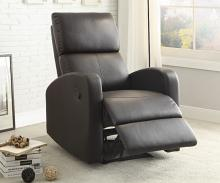 Homelegance HE-8404DB Mendon dark brown bi-cast vinyl recliner chair