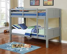 Asia Direct 8431-GRY Marylynn gray finish wood twin / twin bunk bed set