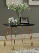 Acme 84507 Telestis black marble gold finish frame chair side end table