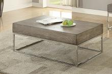 Acme 84580 Orren ellis hadara cecil II gray oak finish wood coffee table