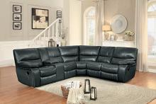 Homelegance HE-8480GRY-3SC 3 pc pecos grey leather gel match sectional sofa with recliner ends