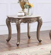 Acme 84867 Astoria grand jacqueline jayceon champagne finish wood marble top chair side end table