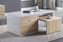 Acme 84930 Orren ellis acad verux white high gloss finish coffee table with drawers