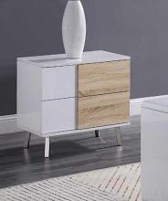 Acme 84932 Orren ellis acad verux white high gloss finish end table with drawers