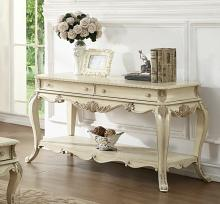 Acme 86023 Rosdorf park lorentz ragenardus antique white finish wood sofa entry console table