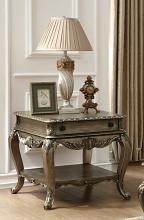 Acme 86032 Ragenardus vintage oak finish wood chair side end table