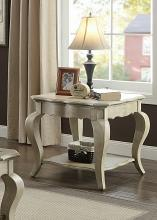 Acme 86052 Rosdorf park abrielle chelmsford antique taupe finish wood chair side end table