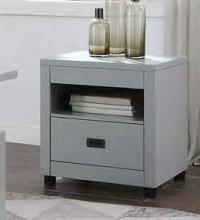Acme 87107 Brayden studio haleyville eleanor dove gray finish wood modern end table