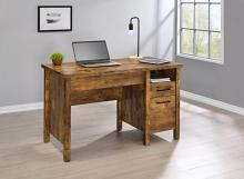 881240 Millwood pines pirtle delwin antique nutmeg finish wood lift top desk