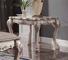 Acme 88172 Astoria grand selena dresden vintage bone white finish wood carved accents end table