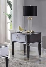 Acme 88817 House Beatrice charcoal and light grey finish wood end table with drawer