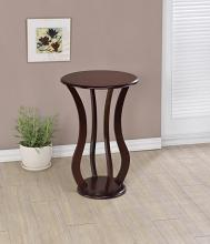 900934 Latitude run zahara cherry wood finish round plant stand