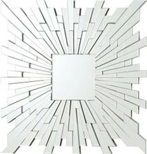 Squared star sun multi piece frameless decorative wall mirror