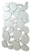 Coaster 901791 Interlocking circular ovals shapes design frameless decorative wall mirror.