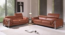 903CM-2PC 2 pc Orren ellis luigi camel italian leather sofa and love seat set