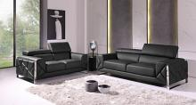 903GR-2PC 2 pc Orren ellis luigi gray italian leather sofa and love seat set